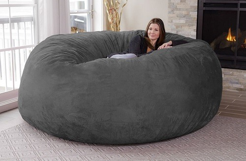 Woman In Big Bean Bag Chair