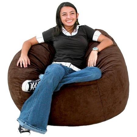 Woman Sitting On Bean Bag